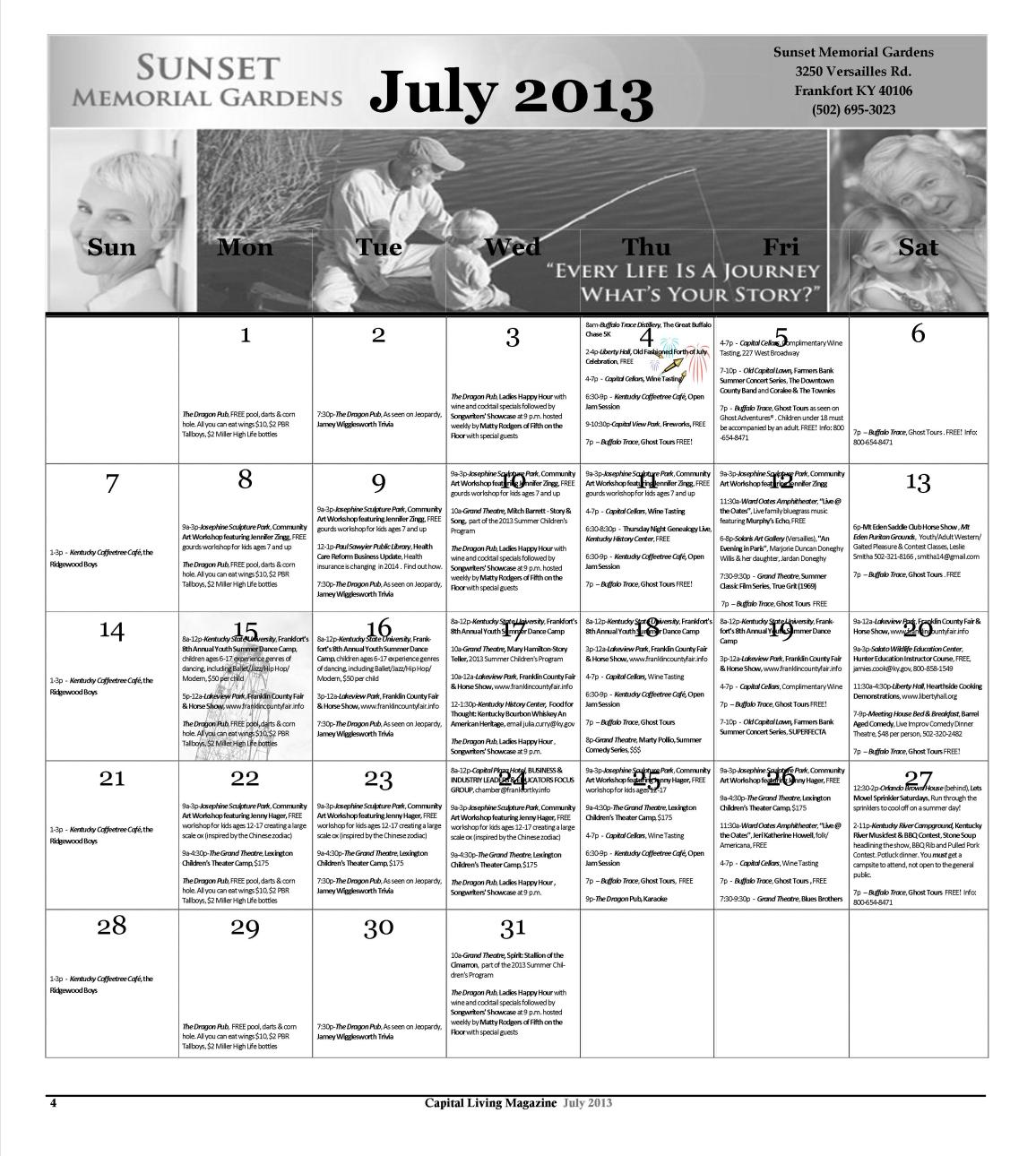 July 2013 Calendar-with sponsor