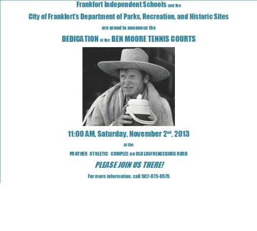 Ben Moore Tennis Courts Dedication - 11-2-13