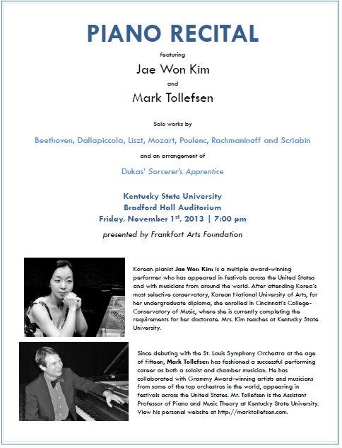 Piano Recital at KSU - 11-1-13