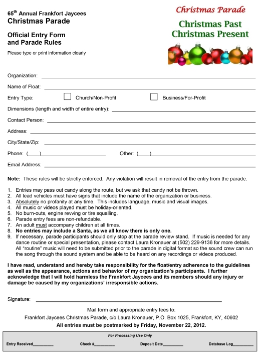 Parade Application