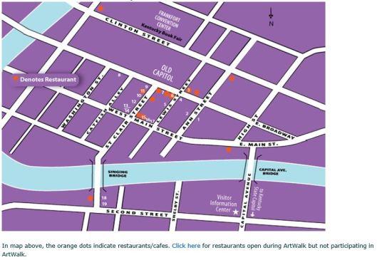 ArtWalk Map Nov 2013