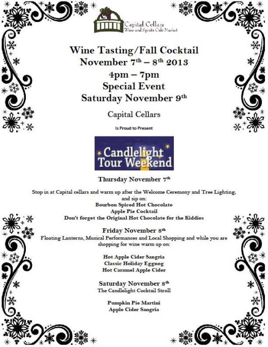Capital Cellars Wine Tasting at Candlelight