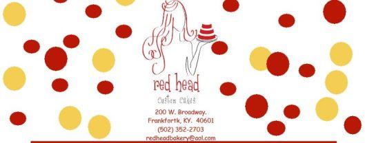 Red Head Custom Cakes Header