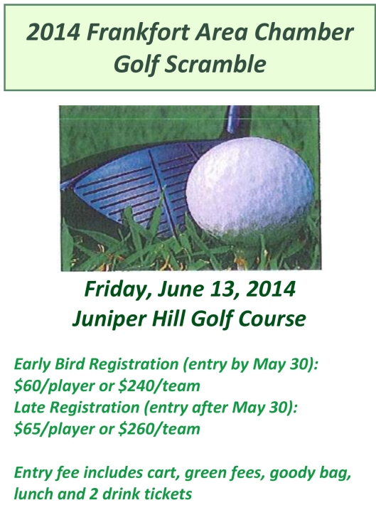2014 Frankfort Area Chamber Golf Scramble