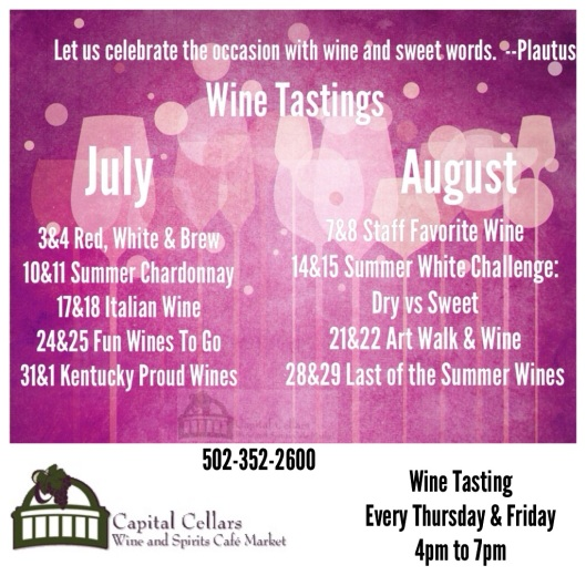Capital Cellars Wine July & August 2014