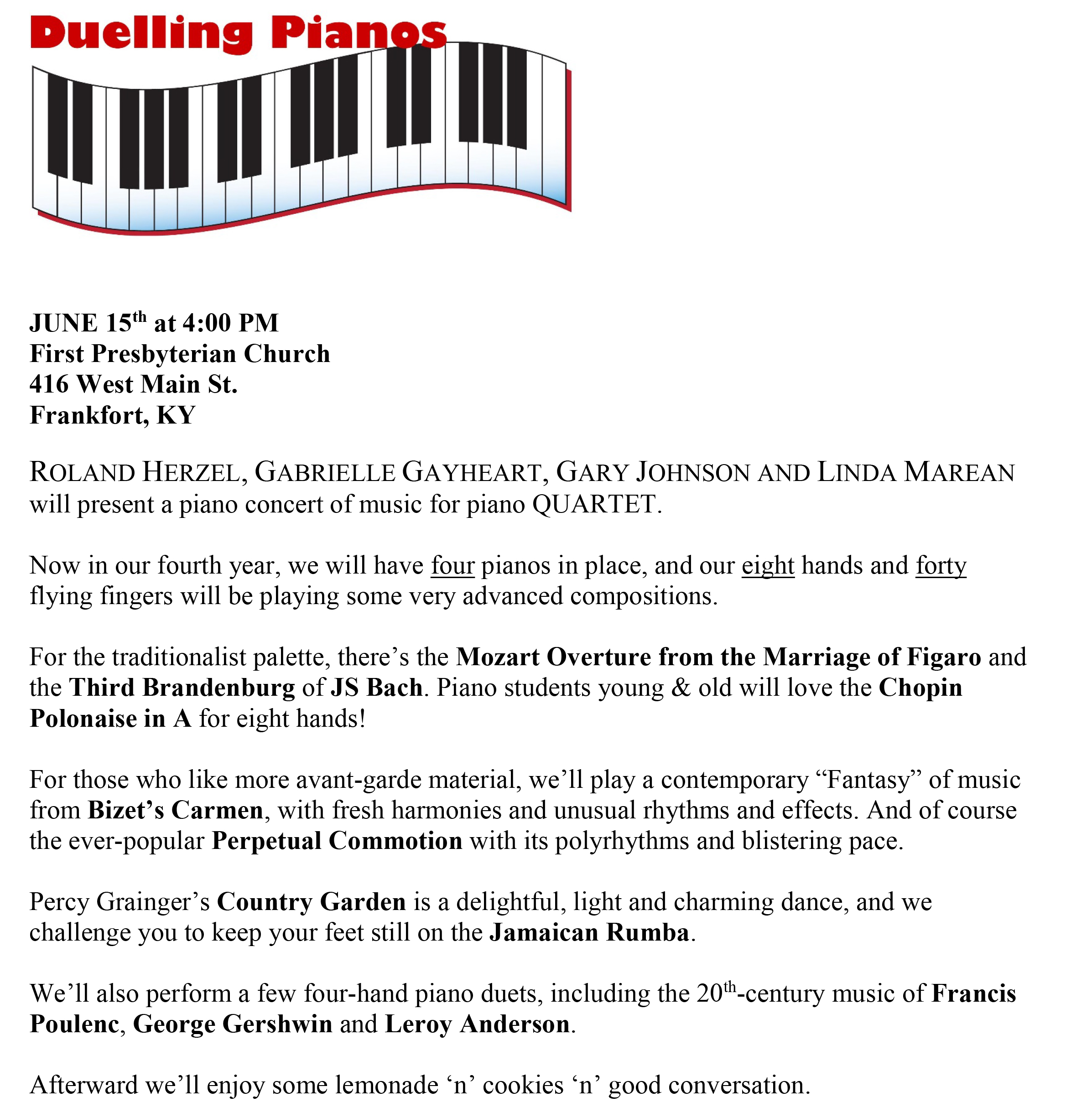 Duelling Pianos 2014