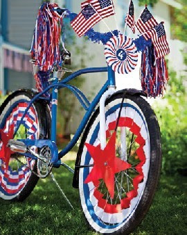 July 4th Bike Decorations