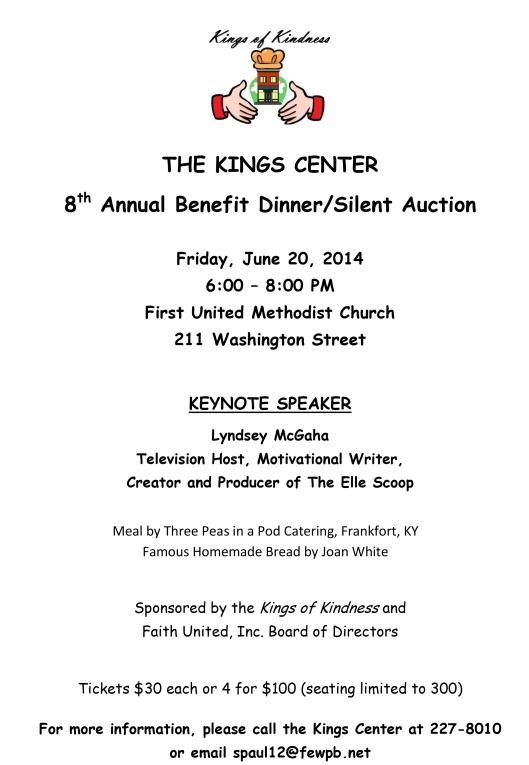Kings Center dinner 2014