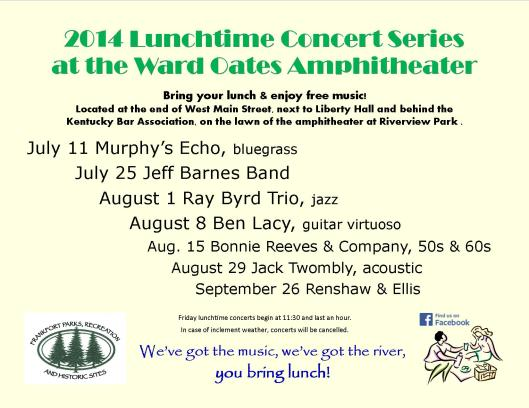 Lunchtime Concerts june 2014