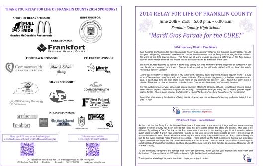 RFL program 2014 - 1