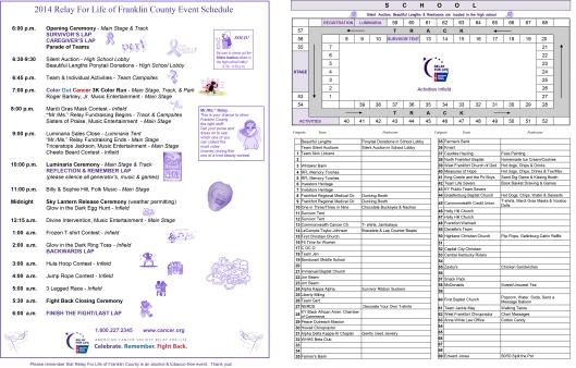 RFL program 2014 - 2