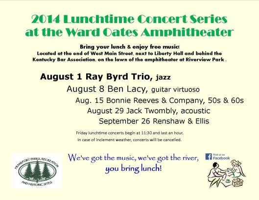 WOA Lunchtime Concert August 2014
