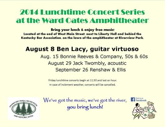 WOA Lunchtime Concert August 8 2014
