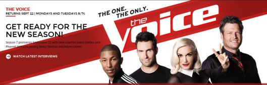 NBCs The Voice Website Banner