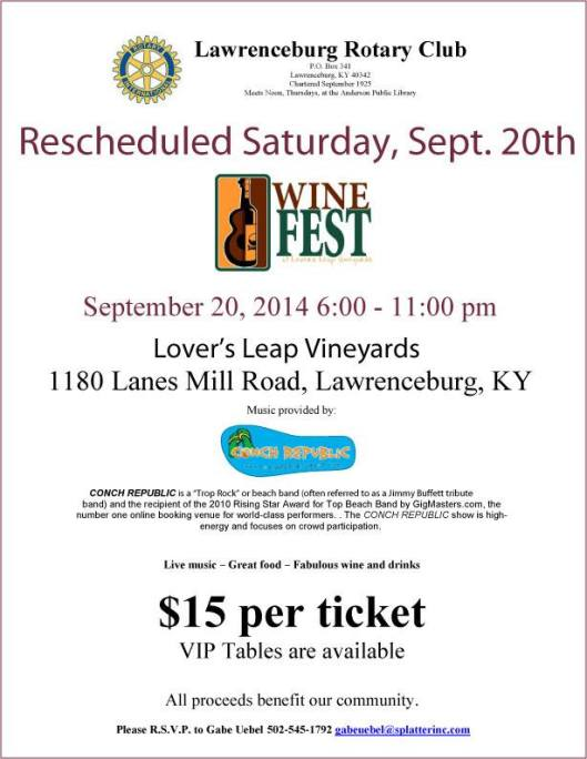 Winefest at Lovers Leap 2014