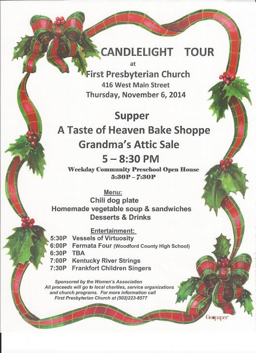 Candlelight Traditions Ad for First Presbyterian Church