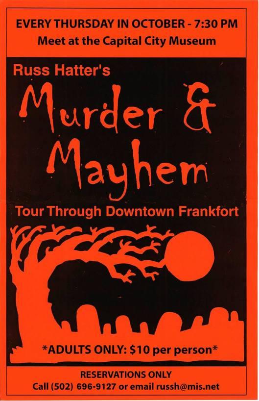 Capital City Museum Murder and Mayhem Tour 2014