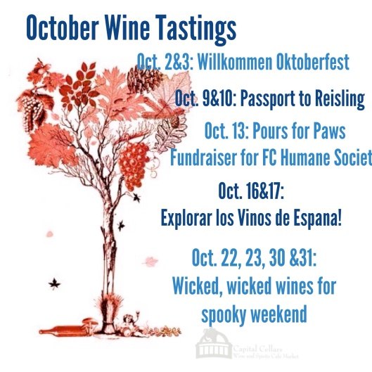 October Wine Tastings at Capital Cellars