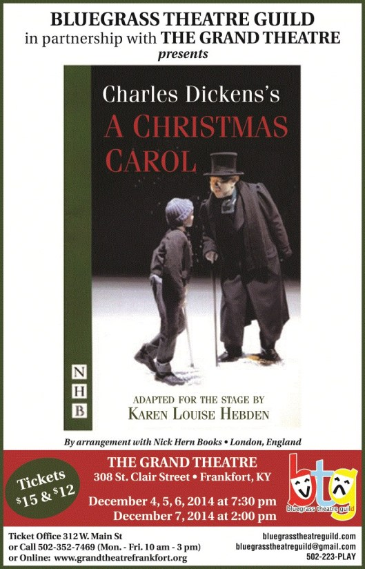 Bluegrass Theatre Guild Presents A Christmas Carol 2014