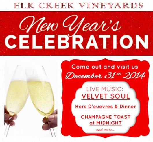 Elk Creek Vineyards New Year's Eve 2014