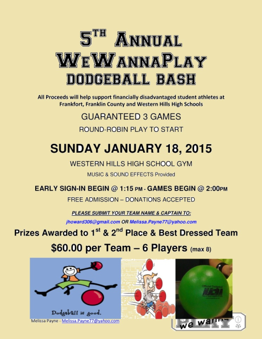 5th Annual We WannaPlay Dodgeball Tournament