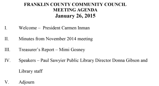 FRANKLIN COUNTY COMMUNITY COUNCIL