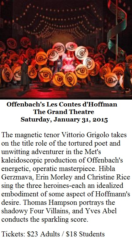 Offenbach's Les Contes d'Hoffman at the Grand Theatre -1-31-15