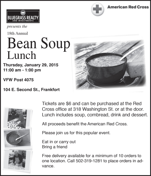 Red Cross Bean Soup Lunch Fundraiser 2015