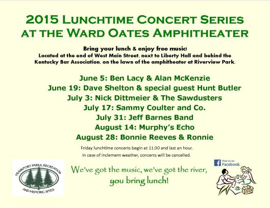 2015 Lunchtime Concerts at WOA