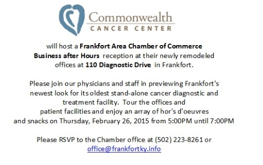 Commonwealth Cancer Center Ribbon Cutting - 2-26-15