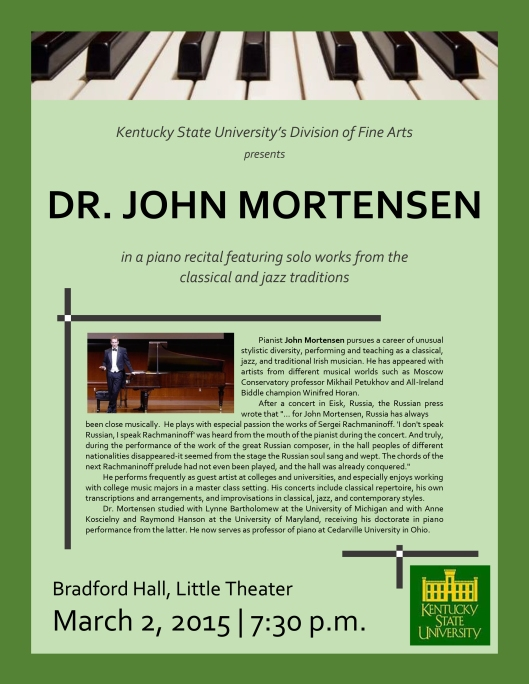 KSU presents John Mortensen poster