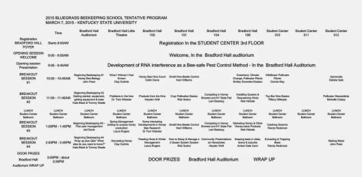BBS Tentative Program 2015
