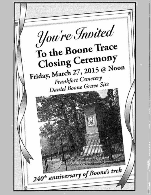 Closing of Boone Trace B - 3-26-15
