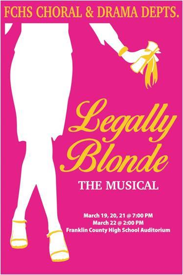 Franklin County HS Drama Presents Legally Blond