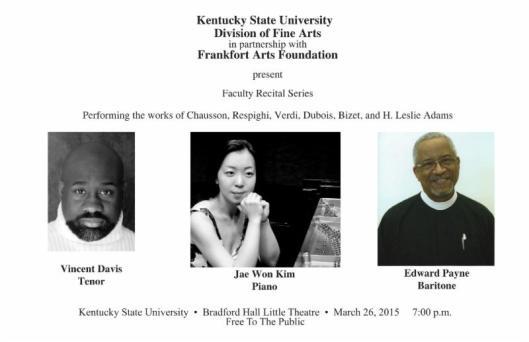 KSU presents the Faculty Recital Series - 3-26-15