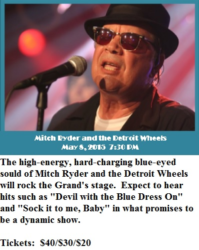 Mitch Ryder and the Detroit Wheels - 5-8-15