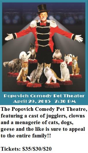 Popovich Pet Comedy Theatre at the Grand Theatre - 4-29-15