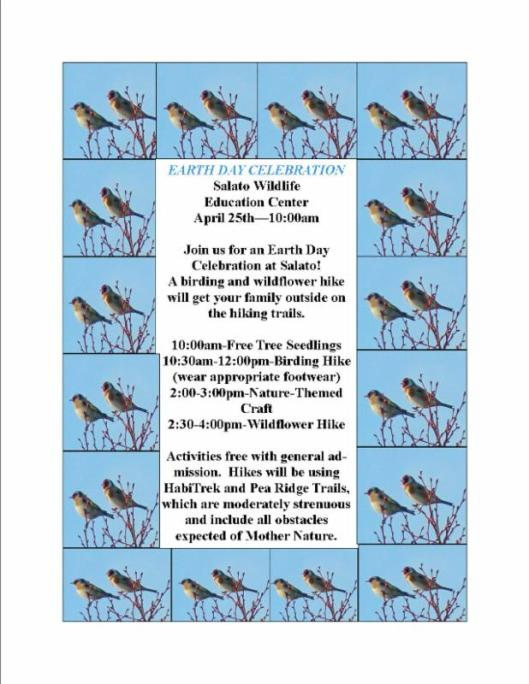 Salado Wildlife Refuge Earthday Celebration - 4-25-15