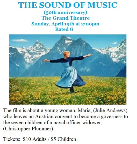 The Sound of Music at the Grand Theatre - 4-19-15