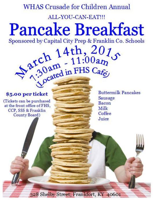 WHAS Crusade for Children Annual Pnacake Breakfast - Reschedule Date