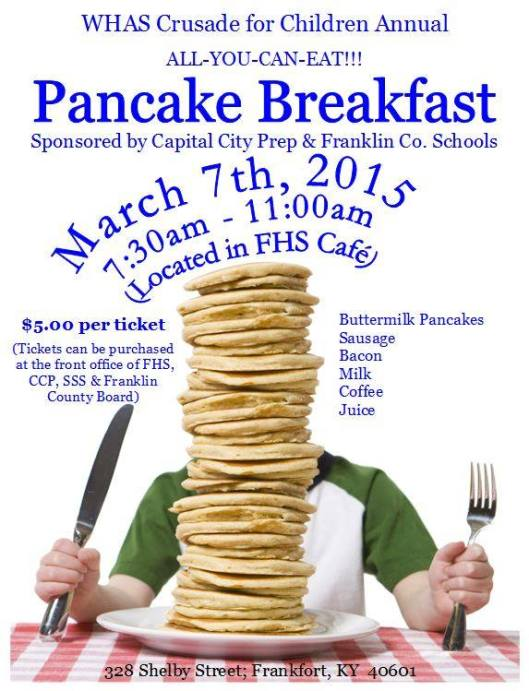 WHAS Crusade for Children Annual Pnacake Breakfast