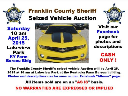 Franklin County Sheriff Auction - 4-25-15