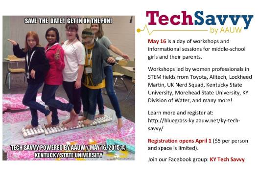 Tech Savvy Day for Girls - 5-16-15
