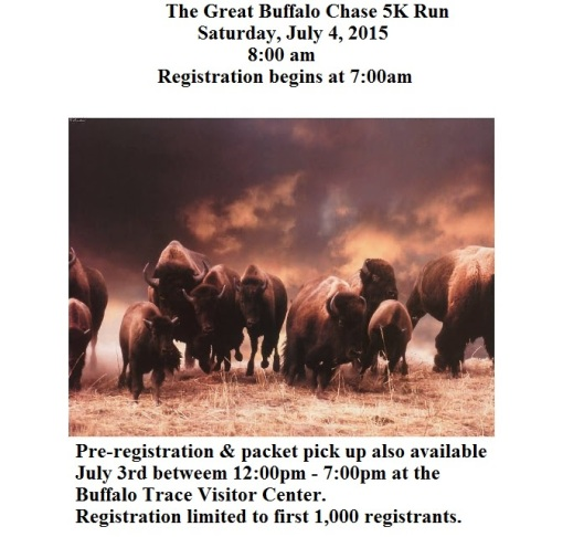The Great Buffalo Chase 5K at Buffalo Trace Distillery - July 4th
