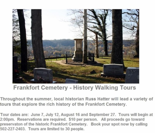 Frankfort Cemetery History Walking Tours