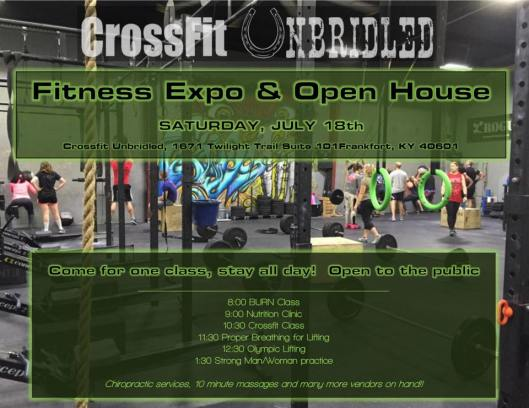 Crossfit Unbridled Fitness Expo & Open House- 7-18-15