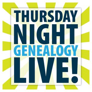 Thursday Night Geneology Night Logo