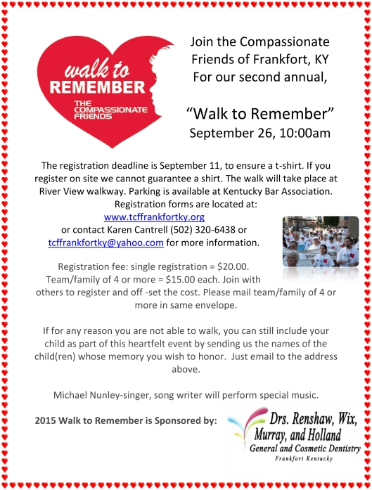 A Walk to Remember 2015 Flyer