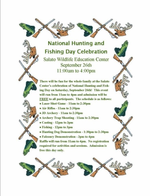 National Hunting and Fishing Day at Salato
