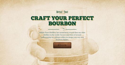 Buffalo Trace Craft Your Perfect Bourbon Website